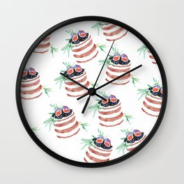 Fig cakes pattern Wall Clock