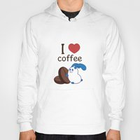 coffe Hoodies featuring Ernest | Love coffe by Hisame Artwork