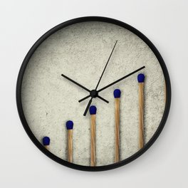 whole matches stairsteps Wall Clock
