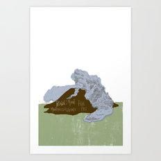 Pelean Volcanic Eruption Art Print