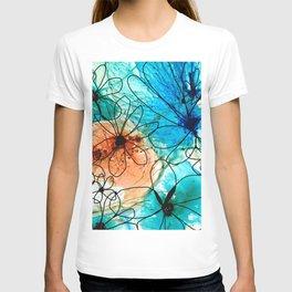Modern Floral Art - Wild Flowers 2 - Sharon Cummings T-shirt