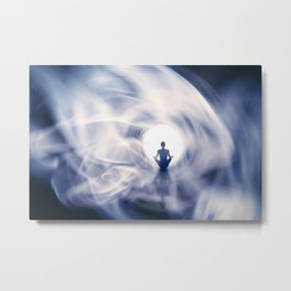 Out Of This World Meditation Metal Print