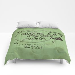 Whistle Pig Restaurant Comforters