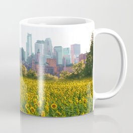Minneapolis Minnesota Skyline and Sunflowers | Landscape and Photography Collage Coffee Mug