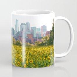 Minneapolis Minnesota Skyline and Sunflowers-Mpls Coffee Mug