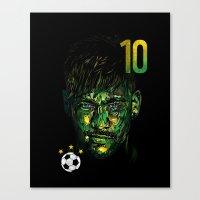 neymar Canvas Prints featuring NEYMAR JR by dan elijah g. fajardo