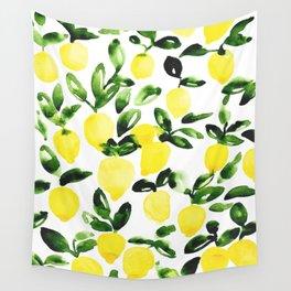 Summer Lemons Wall Tapestry