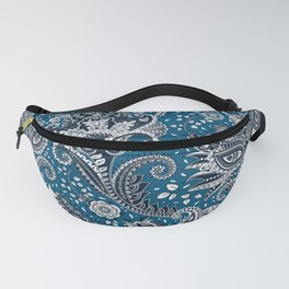 Blue & White Ornamental Paisley Fanny Pack