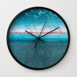 blue window Wall Clock