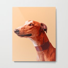 Orange Greyhound. Pop art dog portrait Metal Print