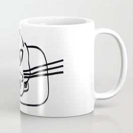 """Cat drawings"" Resting Cat on his Elbow Coffee Mug"
