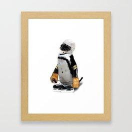 Little Mascot Hockey Player Penguin Framed Art Print