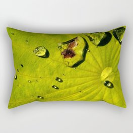 Lily with Water Drops Rectangular Pillow