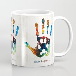 Rainbow Bridge Art - Never Forgotten - By Sharon Cummings Coffee Mug