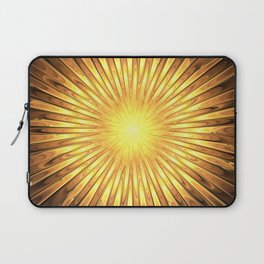 Rays of GOLD SUN abstracts Laptop Sleeve