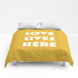 Love Lives Here Comforters