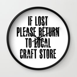 Funny Crafter Apparel! Wall Clock