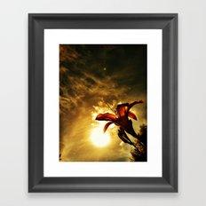 Fire Lily Framed Art Print