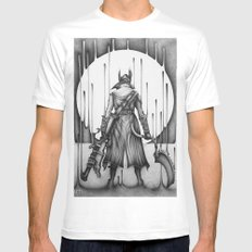 Bloodborne White MEDIUM Mens Fitted Tee