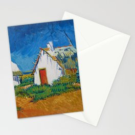 Van Gogh - Three white cottages in Saintes-Maries Stationery Cards