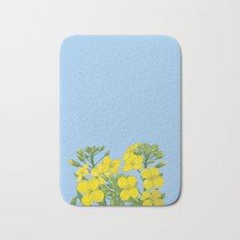 Summer flower in yellow Bath Mat