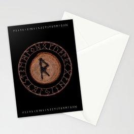 Raidho Elder Futhark Rune Travel, journey, vacation, relocation, evolution, change of place Stationery Cards