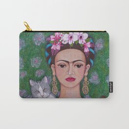 Frida cat lover closer Carry-All Pouch