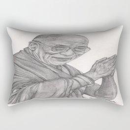 Dalai Lama Tenzin Gyatso Drawing Rectangular Pillow