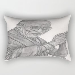 Dalai Lama Tenzin Gyatso Drawing Rectangular Pillow