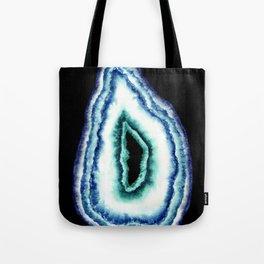 Large Geode A on Black Tote Bag