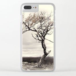 Lonely Tree #5 Clear iPhone Case