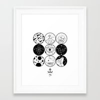 circles Framed Art Prints featuring Circles by LSjoberg