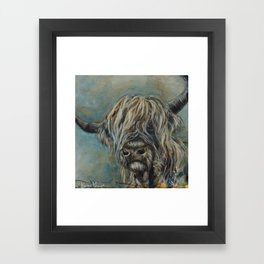 Highland Coo Framed Art Print