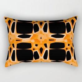 Mid Century Modern Retro Stars Orange Black Rectangular Pillow