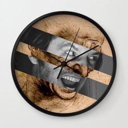 "Leonardo da Vinci's ""Head for The Battle of Anghiari"" & Jack Nicholson in Shining Wall Clock"