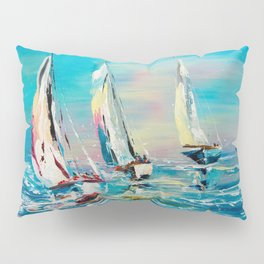 YACHTS ON THE WIND Pillow Sham