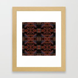 Psycho - Spooky Halloween Orange and Black Theme by annmariescreations Framed Art Print