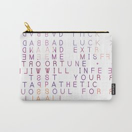 Bad Luck And Misfortune - Typography Design Carry-All Pouch