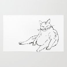 Fat Cat illustration Rug