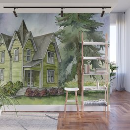 The Green Clapboard House Wall Mural
