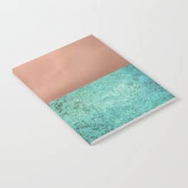 NEW EMOTIONS - ROSE & TEAL Notebook