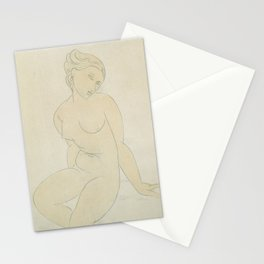 Seated Female Nude, Amedeo Modigliani Stationery Cards