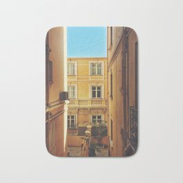 Back alley on the streets of Monaco Bath Mat