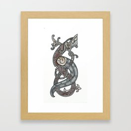 Viking dragon Framed Art Print