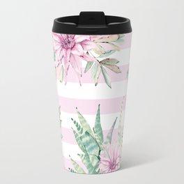 Simply Striped Cactus Desert Rose Pink Travel Mug