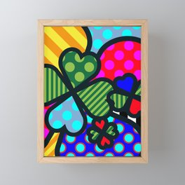 Lucky Cloverleaf Framed Mini Art Print