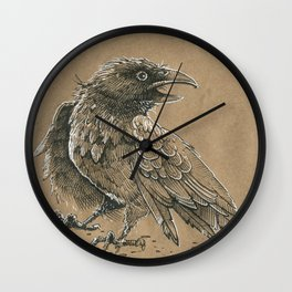 Raven / Crow Wall Clock