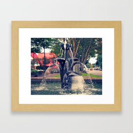 Autumn fountain Framed Art Print
