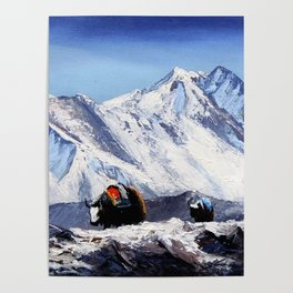 Black Yak On Everest Base Camp Poster