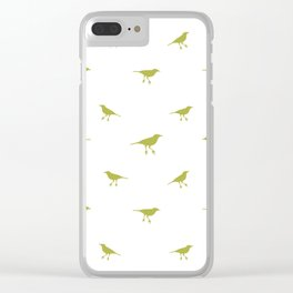 Birds Silhouette Print Clear iPhone Case